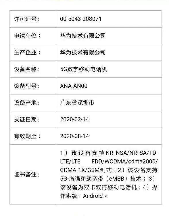 Variantes Huawei P40 e P40 Pro 5G recebem certificação TENAA 2