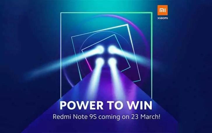 Redmi Note 9S será lançado em 23 de março, provavelmente um Note 9 Pro renomeado