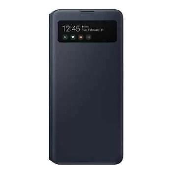 Capinhas Galaxy A51 5G S-View, como visto no site da Samsung na Suíça - A Samsung confirma indiretamente o lançamento europeu do Galaxy A51 5G