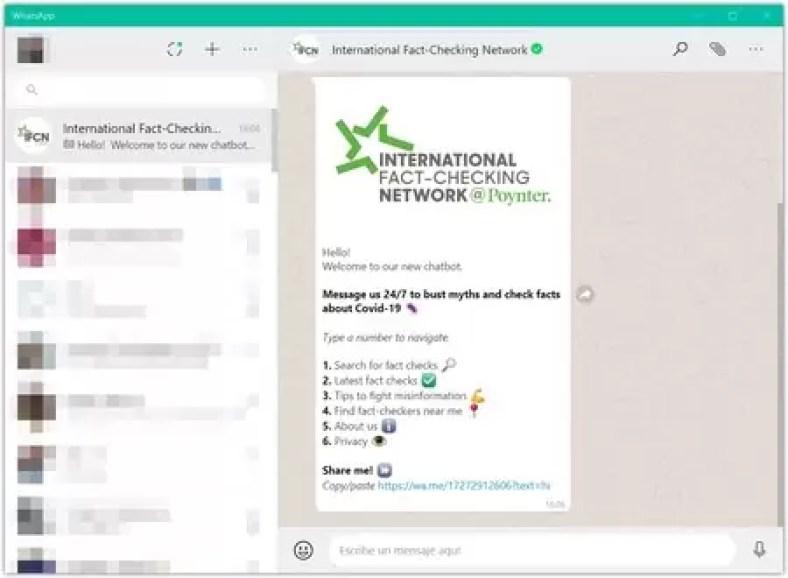 Whatsapp fake news coronavirus bot