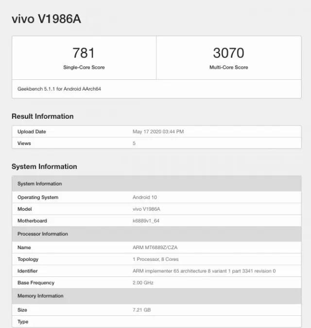iQOO Z1 passa no Geekbench e confirma Mediatek Dimensity 1000+ 1