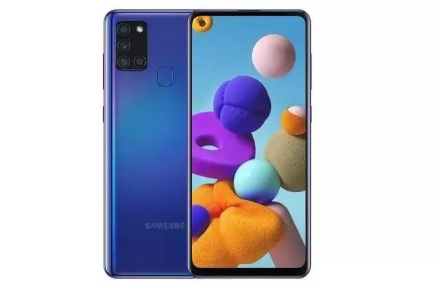 Galaxy A21s em destaque
