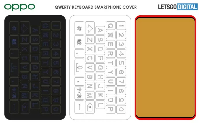 Oppo QWERTY Keyboard Case Patent