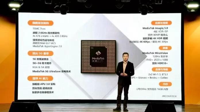 Dimensão testada 820 5G em Redmi 10X