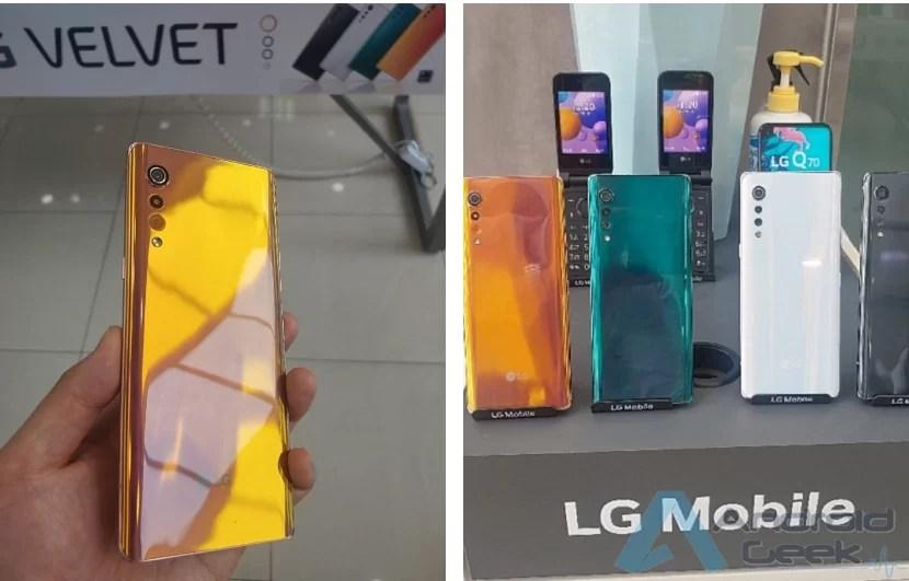 Novas fotos do LG Velvet mostram as variantes de cores 1