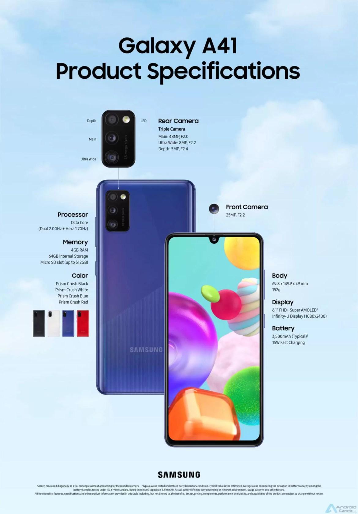 O Samsung Galaxy A41 está disponível já amanhã em Portugal 1