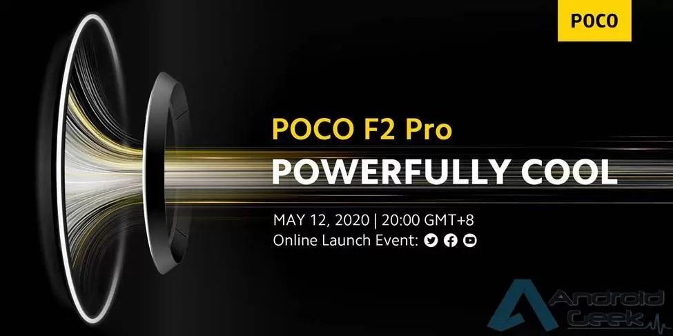 Vejam connosco o lançamento Online do POCO F2 amanhã 12 de maio ás 13h 1