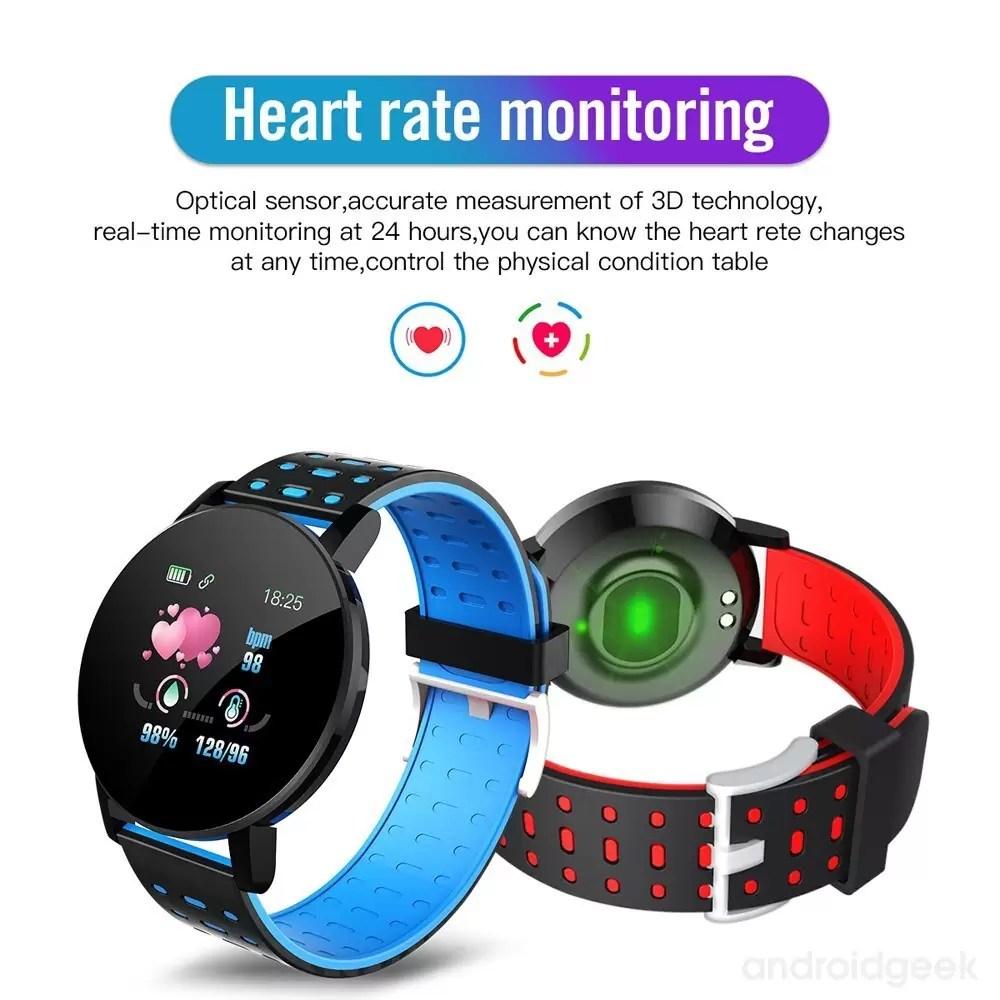 Smartwatch 119 Plus. Monitorização de saúde e muito estilo por menos de 10€ 5