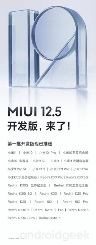 Xiaomi lanza el próximo equipo para obtener MIUI 12.5 1