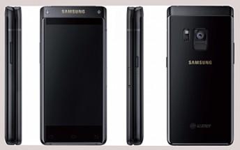 Samsung flip phone (SM-G9298) surge em imagens render 1