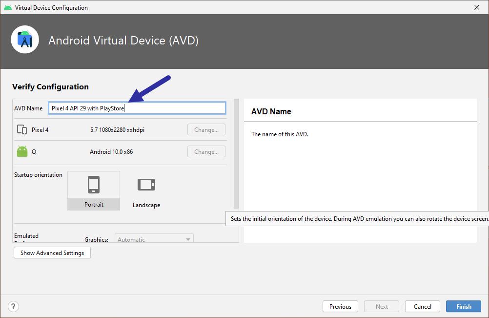 name virtual device 271220