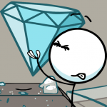 Stickmin Stealing the Diamond 1.0 APK MOD Unlimited Money