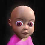 Baby in Pink Horror Game Scary Babysitting games 0.6 APK MOD Unlimited Money