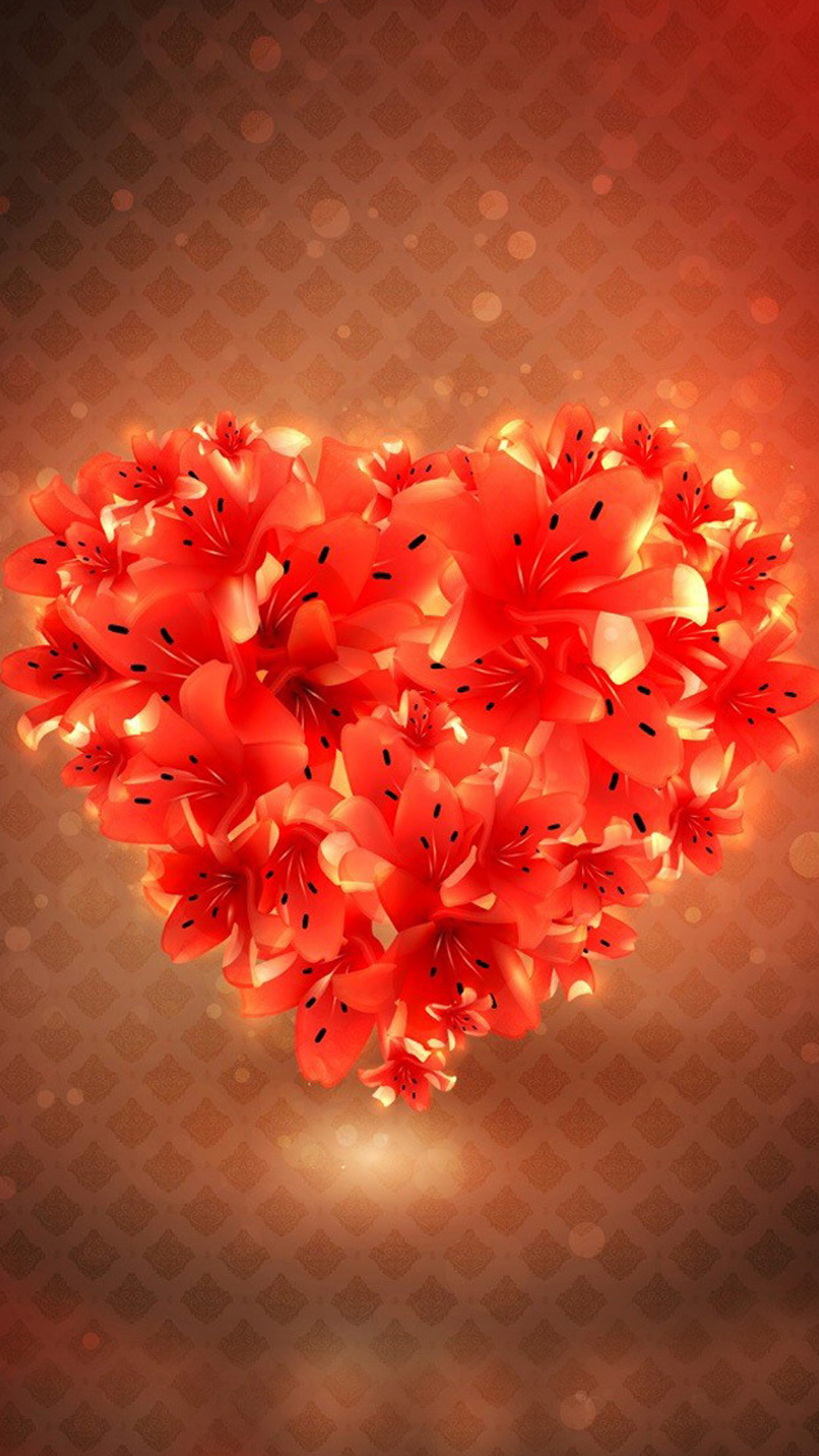 flower love heart android wallpaper - android hd wallpapers