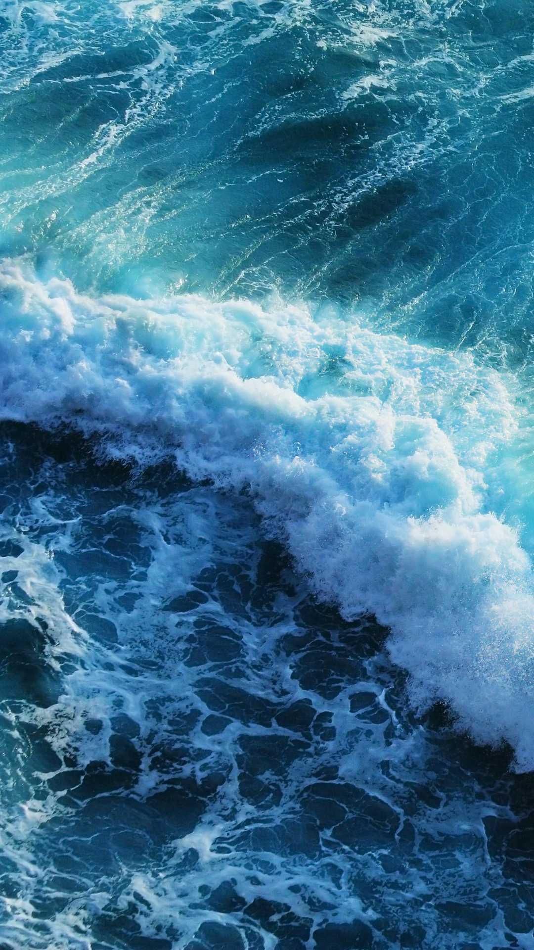 beautiful blue waves android wallpaper - android hd wallpapers