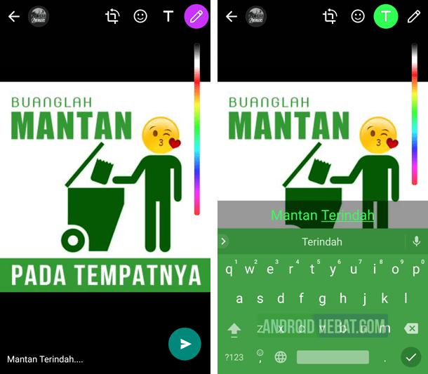 Cara membuat status warna WhatsApp