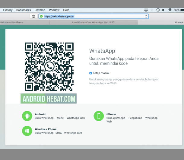 lihat kode barcode whatsapp