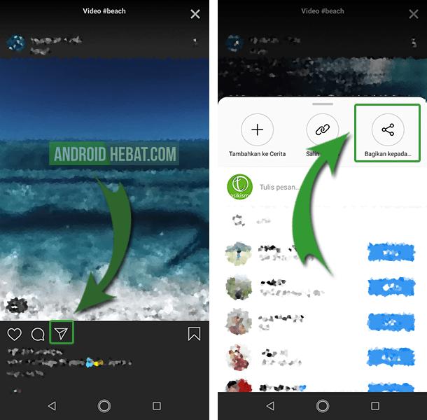cara mengirim video instagram ke wa