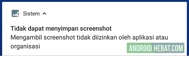 tidak bisa screenshot di telegram Android
