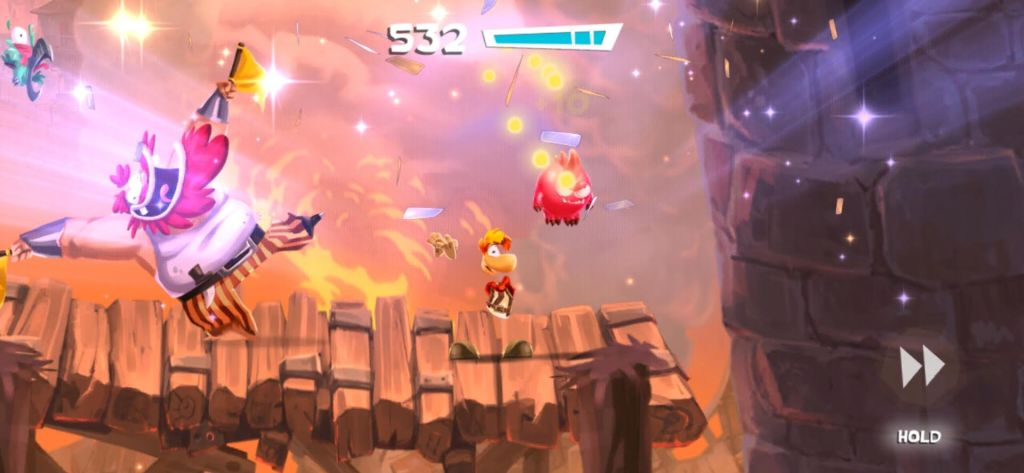 Rayman Adventure Android Game Screenshot Controls