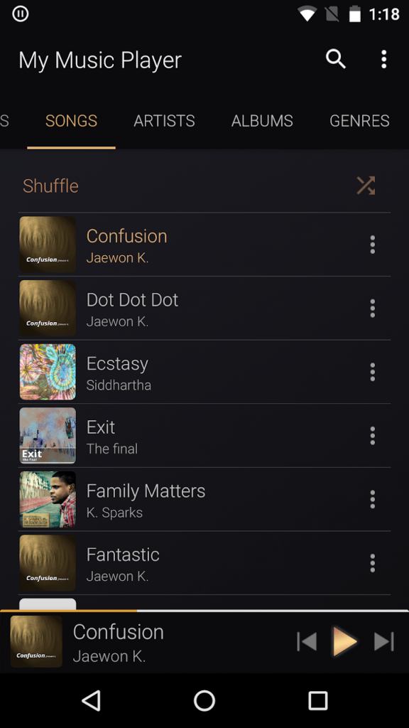 Download My Music Player v1.0.8 Best Android Music Player