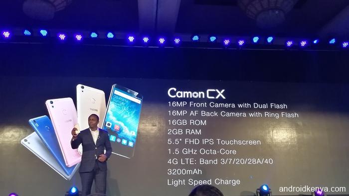 Tecno Camon CX specifications