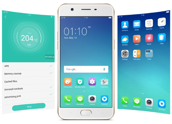 Color OS 3.0 on the OPPO A57