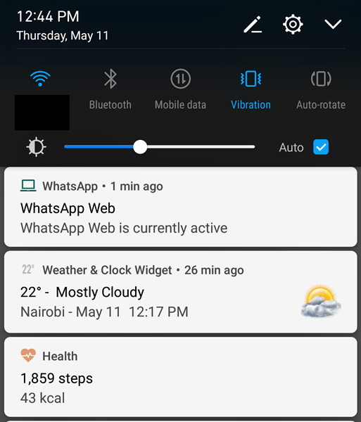 WhatsApp Web persistent notification