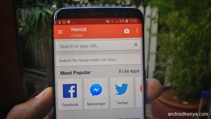 Hermit Lite Apps Browser