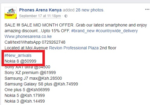 Nokia 8 is now available for purchase in Kenya