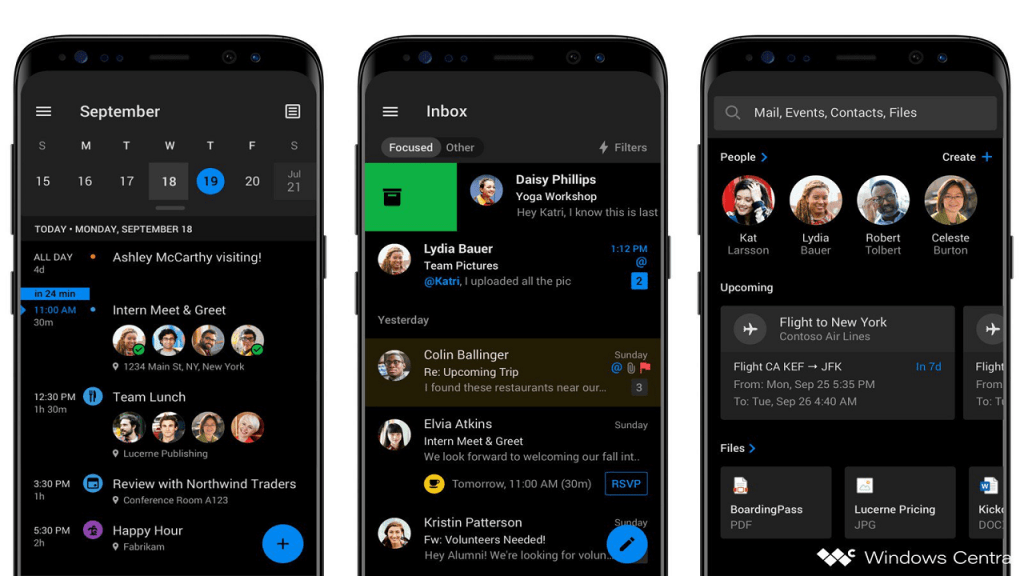 Microsoft Outlook for Android will soon get a dark mode