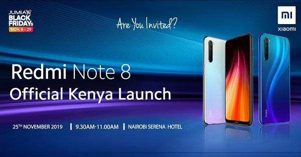 Redmi Note 8 Kenya launch