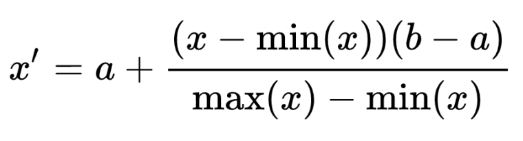 Re-scale range min-max