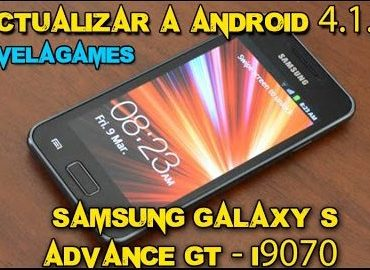 Actualizar a Android 4.1.2. JB | Samsung Galaxy S Advance GT-I9070 | #LaVelaGames
