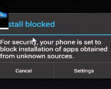 install blocked for security your phone is set to block installation of applications
