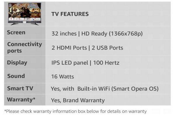 Panasonic 32 Inches HD Ready LED Smart TV