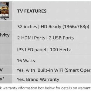 Panasonic 32 Inches HD Ready LED Smart TV