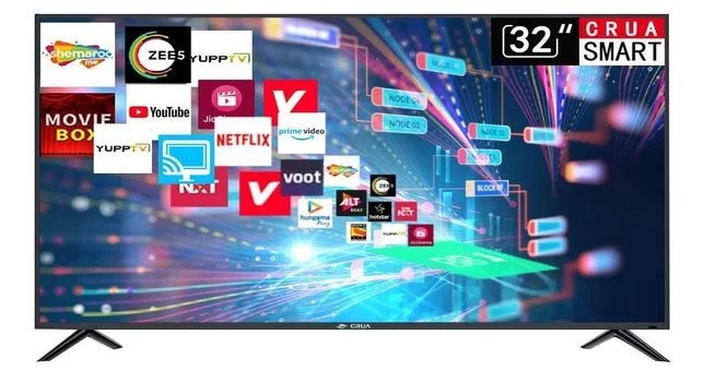 CRUA 80 cm (32 Inches) HD Ready Smart LED TV CJDS32D6 best tv under 10000
