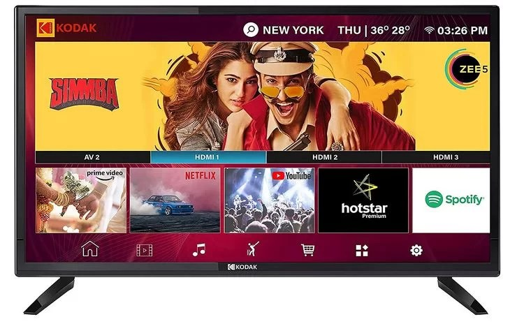 Kodak 80 cm (32 inches) HD Ready LED Smart TV 32HDXSMART Pro best tv under 10000