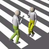Computer simuliert 1.500 Smartphone-fixierte Fußgänger