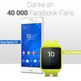 40.000 Facebook-Fans: Android Magazin sagt Dankeschön und verlost mit Sony ein Xperia Z3 inklusive Smartwatch 3