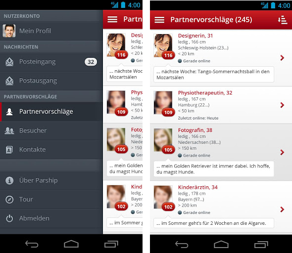 parship dating app Hvad er loven i Florida for dating minderårige