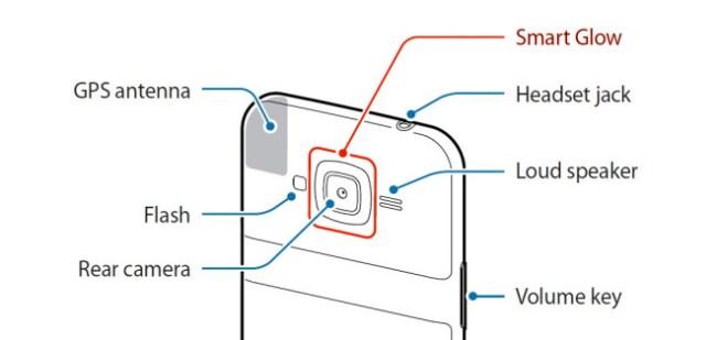 Ein leuchtender Ring auf der Gehäuserückseite macht den Anwender auf Benachrichtigungen aufmerksam – und hilft beim Anfertigen von Selbstporträts.