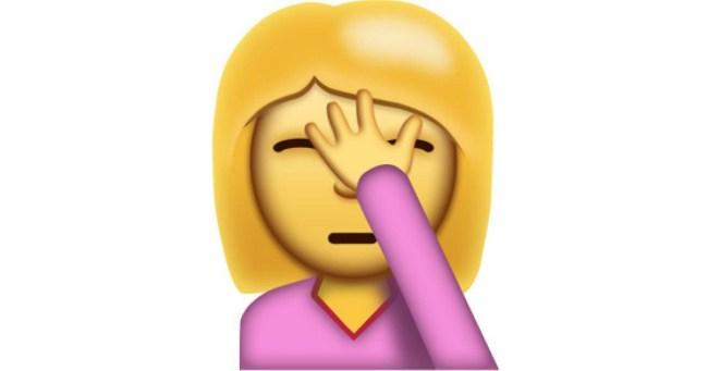 Das original Facepalm-Emoji aus Unicode 9