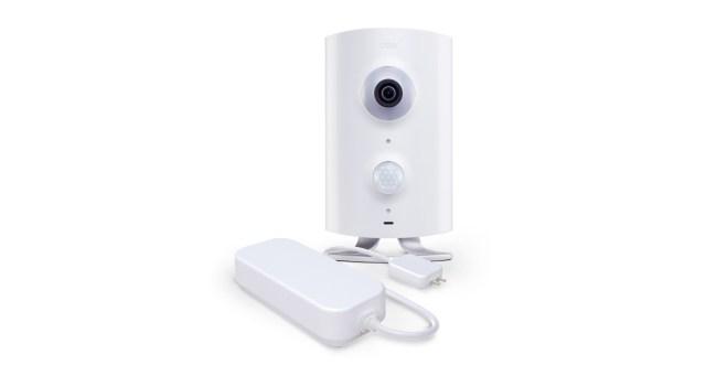 """Über den """"Z-Wave""""-Funkstandard kannst du weitere Smart-Home-Geräte wie Schaltsteckdosen, Tür- und Fenstersensoren sowie Wassermelder (hier im Bild) an die Kamera anschließen. (Foto: Icontrol Networks)"""
