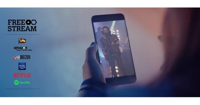 """Bei vier Mobilfunktarifen des österreichischen Anbieters A1 kannst du dank des kostenlosen Angebots """"A1 Free Stream"""" Musik und teilweise auch Videos streamen, ohne etwas von deinem Datenvolumen zu verbrauchen. (Grafik: A1 Telekom Austria)"""