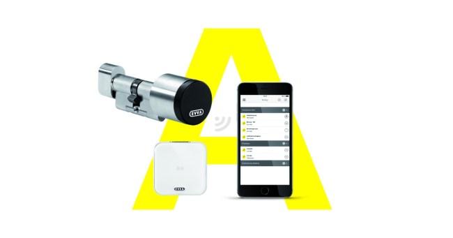 """Dank des elektronischen Schließsystems """"AirKey"""" kannst du dein Smartphone als Schlüssel für Haus- und Wohnungstüren benutzen. Seit Kurzem klappt dies auch mit dem iPhone. (Grafik: EVVA)"""