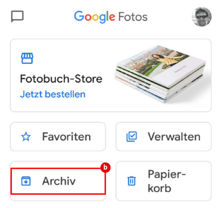 Google Fotos_Fotos ins Archiv_2