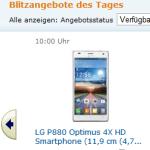Amazon Blitzangebote mit LG Optimus 4X HD und Sony Xperia S und P