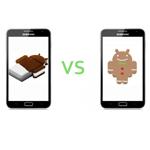 Galaxy Note mit Android 4.0 im Vergleich mit Android 2.3